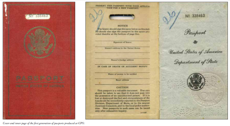 Earliest booklet-style US passports printed by the Government Printing Office (GPO)