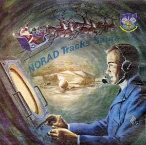 Old Norad Tracks Santa poster