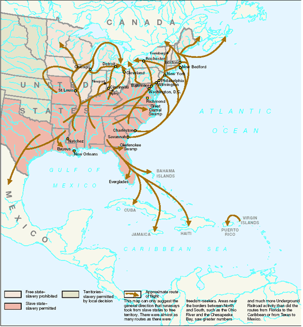 The Underground Railroad Leaves its Tracks in History | Government ...