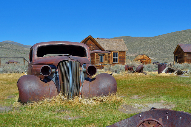 Bodie California gold mining ghost town from 2013 National Historic Landmarks Photo Contest calendar