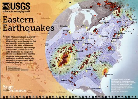 USGS 2013 Calendar Eastern Earthquakes page