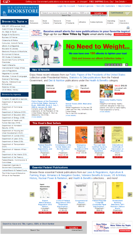 New-US-Government-Online-Bookstore-website