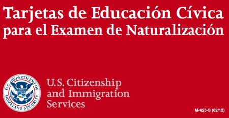 Tarjetas de Educacion Civica para ele Examen de Naturalizacion USA