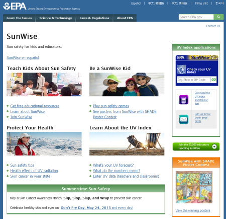 EPA-Sunwise-Website