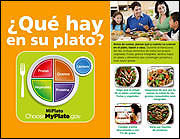 Que hay en su plato- Spanish version of What's on My Plate from ChooseMyPlate