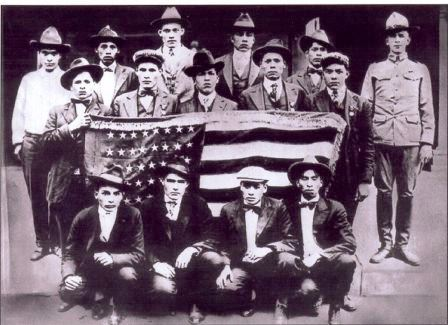 WWI-Choctaw-Code-Talkers-w-Flag