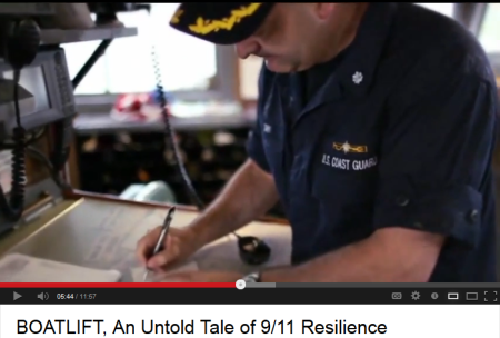 A touching video about the boatlift to evacuate people from lower Manhattan on 9/11 (September 11) is told in a video narrated by Tom Hanks entitled: BOATLIFT, An Untold Tale of 9/11 Resilience.