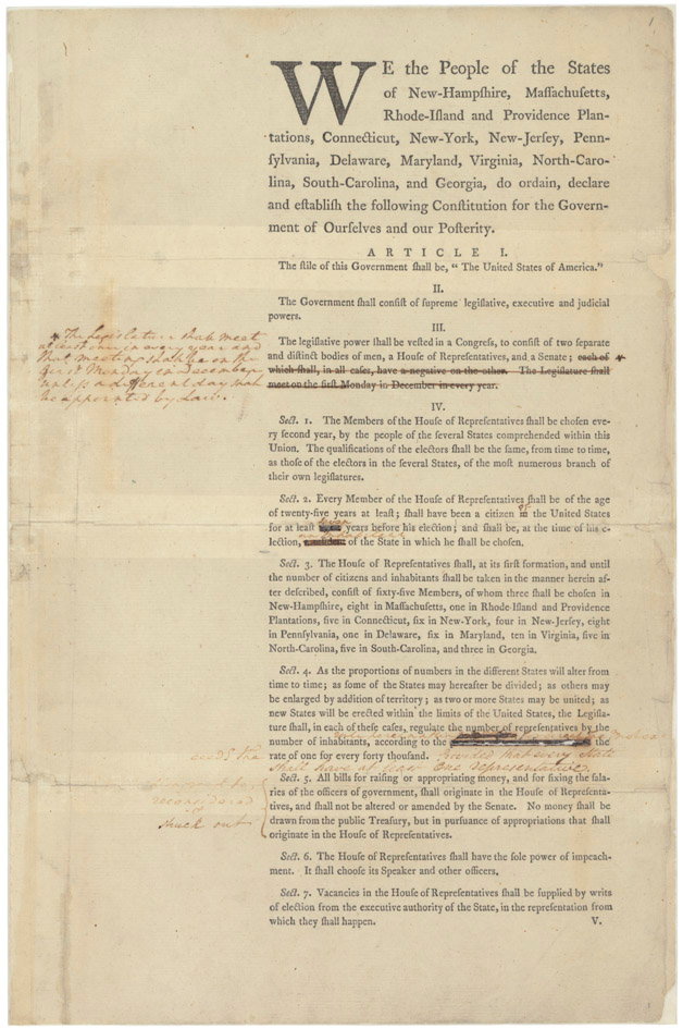 An analysis of the philadelphia convention and the constitution of the united states of america