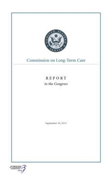 Commission on Long-Term Care Final Report from September 2013 available from GPO.gov