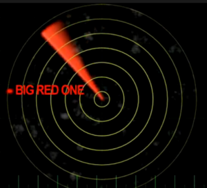 Tracking Santa call sign Big-Red-One on NORAD Santa Tracker Radar