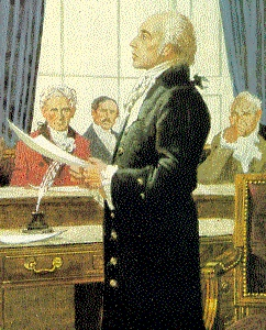 Painting-of-James-Madison-reading-Bill-of-Rights-to-First-Congress