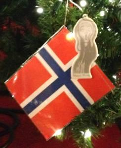 Norwegian-Embassy-Tree-Edvard-Munch-Scream-ornament-2013 from the Norwegian Embassy's 2013 Friendship Christmas Tree at Union Station in Washington, DC. Photo copyright: Michele Bartram