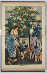 Victorian German style Christmas Xmas tree1899