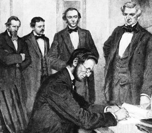 lincoln-signs-emancipation-proclamation-on-New-Years-Day-jubilee-day