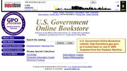 US_ Government_Online Bookstore_Wayback-Machine_20000708