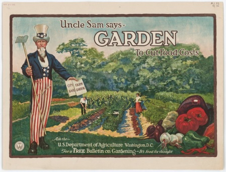 Image: Uncle Sam promoting gardening during wartimeSource: National Archives