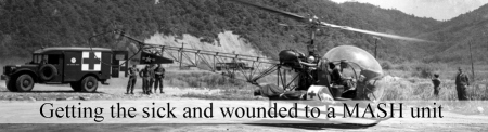 Getting the sick and wounded from the front to a MASH unit during the Korean War. (Image courtesy http://www.koreanwar60.com/army)