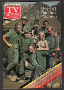TV Week final episode cover depicting M*A*S*H television show cast
