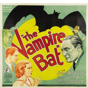Poster for The Vampire Bat movie starring Fay Wray