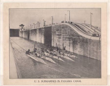Submarines in the Panama Canal (1914-1918) - North Carolina Digital Collections