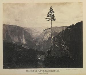 1864 photo of Yosemite Valley by Charles Leander Weed