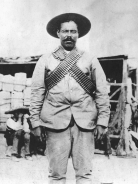 Pancho Villa, military leader of rebel forces during the Mexican Revolution and considered a bandit by Americans in the wake of the raid on Columbus, New Mexico (Library of Congress)