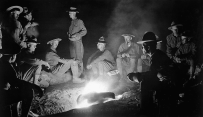 Soldiers of the 16th Infantry around a campfire at San Gerónimo, Mexico, May 1916 (Library of Congress)