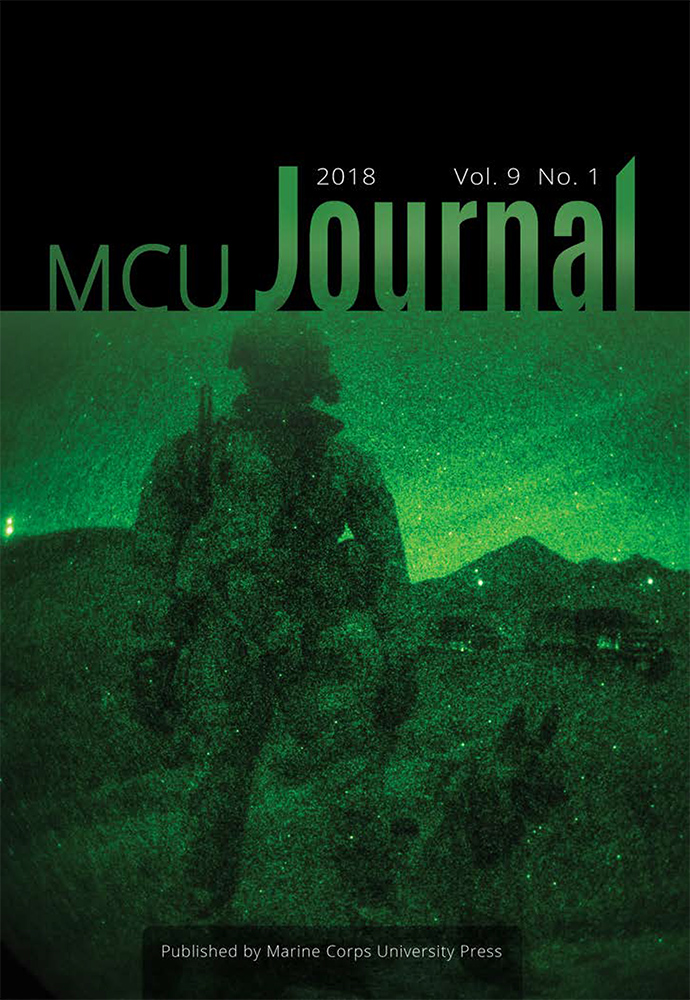 New! Marine Corps University Journal Vol  9, Number 1 now